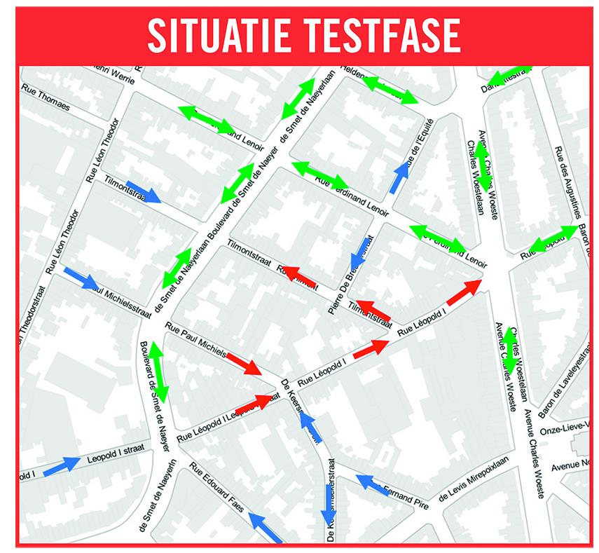 Test : durant 6 mois sens unique dans 3 rues