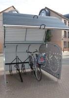 Un vélo dans un vélobox