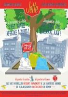 Affiche propreté : poubelles publiques