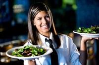 Dienster in een restaurant