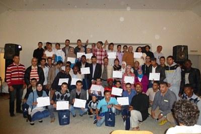 Sidi Bibi & Belfaa (overhandiging diploma jongeren)