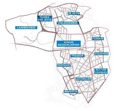 Plan parkeersectoren
